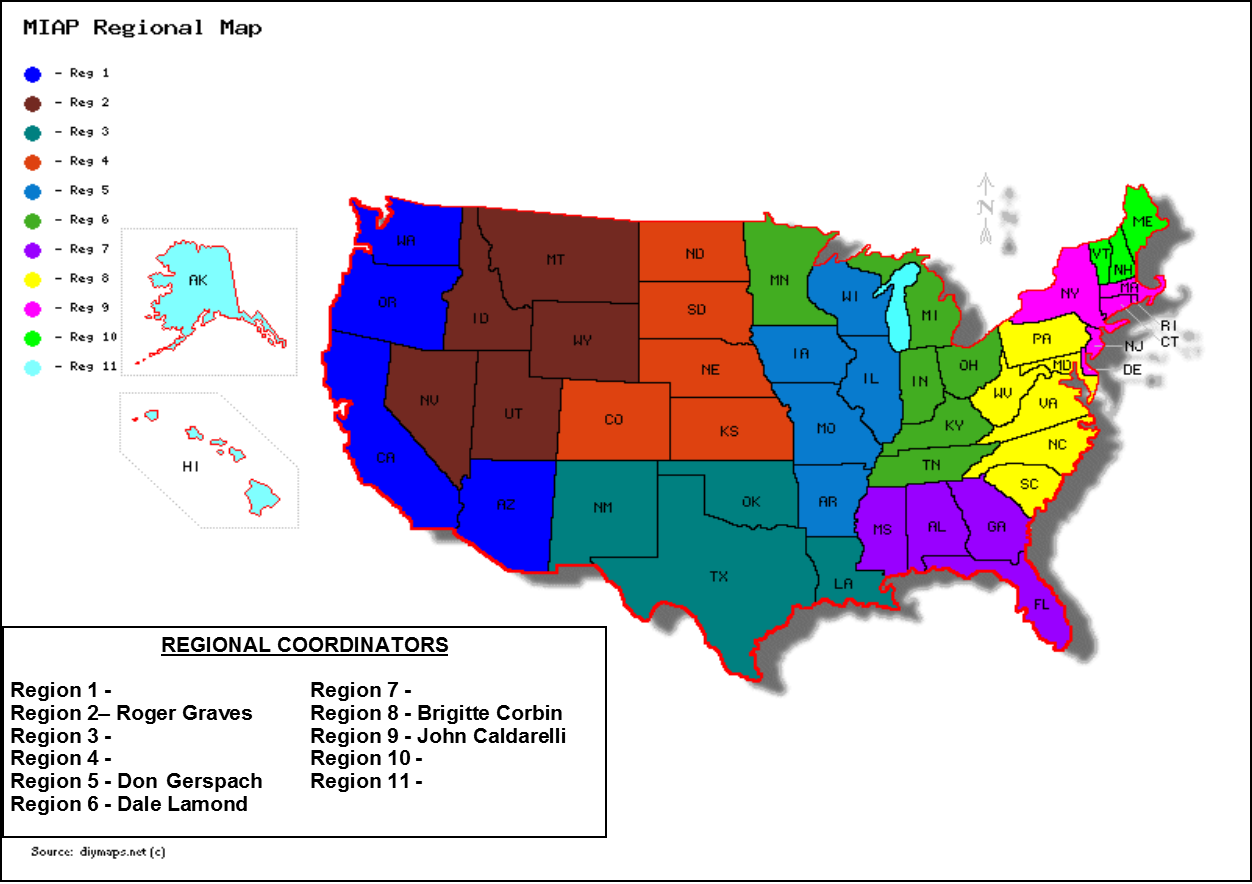 Missing In America Region Map